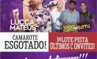 Mais de 700 convites vendidos antecipadamente para o show de Lucca e Mateus hoje no pesqueiro 2 anas de Glória de Dourados