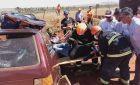 Grávida fica presa às ferragens após colisão entre carro e caminhão em Nova Andradina