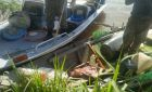 PMA-MS apreende barco, 30 redes de pesca, rifle, capivara e jacarés abatidos