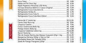 Confira as ofertas para este ''Sábado'' no Jorge Mercado