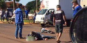 Motociclista fica em estado gravíssimo em acidente na Avenida Marcelino Pires