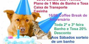 Cia do Bicho esta de aniversário nesse mês de junho e quem ganha presente é seu Pet