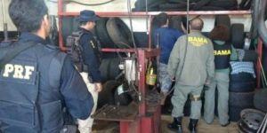 Operação apreendeu mais 3.8 mil pneus importados em MS