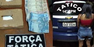 Equipe de Força Tática prende mulher por tráfico de drogas em Deodápolis