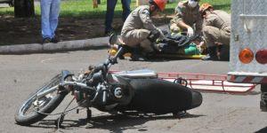 Motoqueira morre na Santa Casa após acidente no Parque dos Poderes na Capital