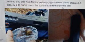 Jovem tenta negociar pistola por maconha no Facebook e é preso pela Força TáticaemVicentina