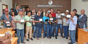 Câmara realiza Sessão Solene em homenagem aos trabalhadores da limpeza pública de Vicentina