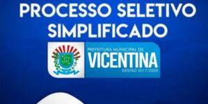 Confira o resultado de pontuação e inscrições deferidas e indeferidas do Seletivo em Vicentina