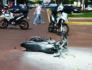 Motocicleta explode durante perseguição policial