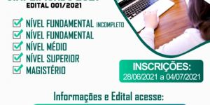 Prefeitura de Vicentina abre Processo Seletivo Simplificado 2021